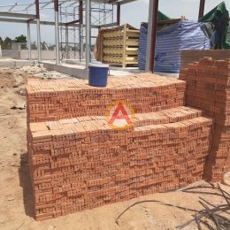 อิฐแดงตันเครื่อง หน้างาน โครงการก่อสร้างสถานี NGV แปลงยาว เอเนอร์ยี จ.ฉะเชิงเทรา