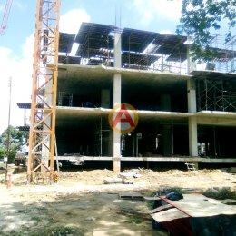 อิฐแดง 4 รู ก่อสร้างอาคารเรียนและปฎิบัติการทางวิทยาศาสตร์สุขภาพ 9 ชั้น มหาวิทยาลัยราชภัฎศรีสะเกษ
