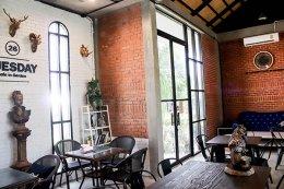 คาเฟ่อิฐแดง ร้าน 26 Tuseday Cafe in Garden จังหวัดสระบุรี