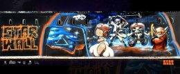 """""""StarWall"""" Parody Graffiti of """"StarWars"""""""