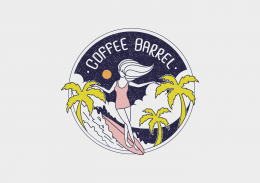 """Coffee Barrel"" Logo Design"