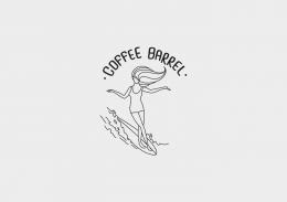 """""""Coffee Barrel"""" Logo Design"""