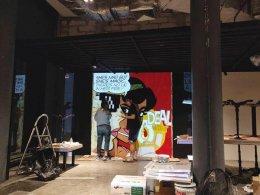 """""""เริงลลิลบาร์"""" Wall Painting"""
