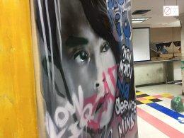 """Graffiti Painting ประกอบฉากละคร เรื่อง """"สิ่งของ"""" ช่อง GMM 25"""