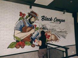 """""""Black Canyon"""" Wall Painting"""