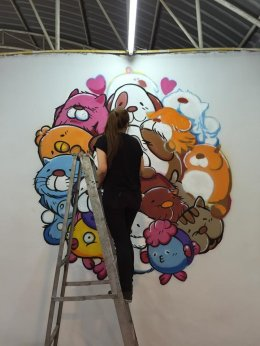"""Barom 77 Pet Shop"" Wall Painting"