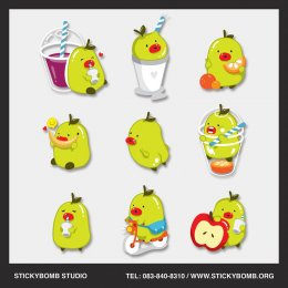 """Mascot and CI Design for """"Fruit Niyom Cafe"""""""