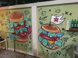 """""""It's Burger"""" Wall Painting"""