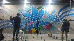"""Adidas"" Graffiti Painting"