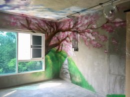 """Natural Landscape Graffiti"" 3D Wall Painting"