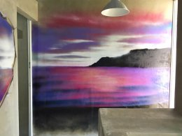 """Natural Landscape Graffiti"" 3D Wall Painting"
