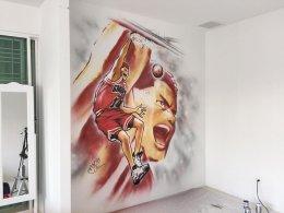 """Slam Dunk"" Interior wall painting"