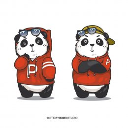 """Panda Night Market"" CI & Mascot Design"