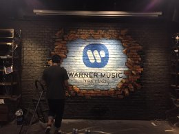 """Warner Music"" Office Painting"
