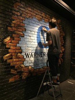 """Warner Music"" Office Painting"