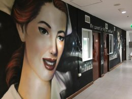 """Muse Hotel"" Bangkok Office Wall Painting"