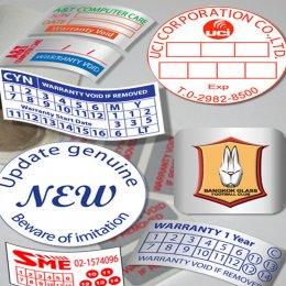 สติ๊กเกอร์รับประกันเร่งด่วน (วันเดียวได้) สติ๊กเกอร์วอยด์ถูกที่สุดใน3โลก สติ๊กเกอร์กันปลอม สติ๊กเกอร์เปลือกไข่ สติ๊กเกอร์ฉลากสินค้า รับพิมพ์และออกแบบให้ฟรี งานพิมพ์คุณภาพสีไม่หลุดไม่ลอก โปรโมชั่นแถมไม่อั้น สั่ง 10000 แถม 5000 สั่ง 20000 แถม 15000