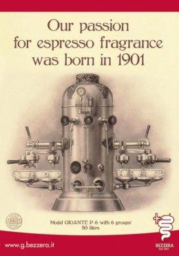 โรงงานเครื่องชงกาแฟที่เก่าแก่  ของอิตาลี เบซเซร่า Bezzera  คศ 1905