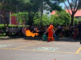 ฝึกซ้อมอพยพการหนีไฟ ในส่วนบริหารอาคารสำนักงานอาคารวิทยานิเวศน์ มหาวิทยาลัยจุฬาลงกรณ์  วันที่ 24 มิถุนายน 2562