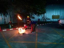 การฝึกซ้อมการหนีไฟประจำปี 2562 อาคารนวไชยยันต์ ในส่วนของการบริหารอาคาร