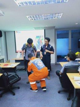 อบรมความปลอดภัยในการทำงานบริหารอาคารในพื้นที่อับอากาศ สำนักงานการบินไทยหลานหลวง