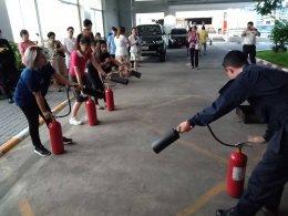ฝึกซ้อมอพยพหนีไฟประจำปี 2561 และการดับเพลิงเบื้องต้น หอพักแพทย์ ส่วนของบริหารอาคาร ร.พ.จุฬาฯ