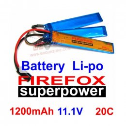 FireFox 11.1V 1200mAh 20C Li-po แยก 3 แผ่น