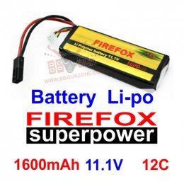 FireFox 11.1V 1600mAh 12C Li-po
