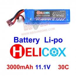 HeliCox 11.1V 3000mAh 30C Li-po