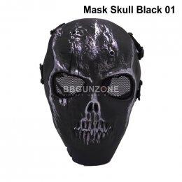 Mask Skull Black หน้ากากกระโหลก