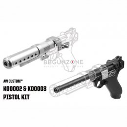 "AW Custom Built Luger P08 6"" Pistol with Muzzle Device (Star War Style) (K00002+K00003)"