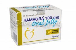 50X 100mg, Kamagra Oral jelly male sex drive Banana Flavor erections