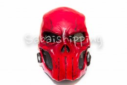 ARMY of TWO PAINTBALL AIRSOFT BB GUN PROP HELMET GOGGLE MASK Red Punisher No.1