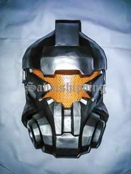 ARMY MASK PAINTBALL AIRSOFT BB GUN PROP HELMET GOGGLE ROBOT SILVER PUNISHER No.1