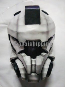 ARMY MASK PAINTBALL AIRSOFT BB GUN PROP HELMET GOGGLE ROBOT WHITE PUNISHER No.1