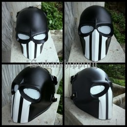 ARMY of TWO PAINTBALL AIRSOFT BB GUN PROP HELMET GOGGLE MASK Black Punisher 13