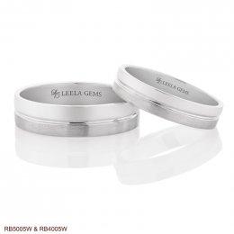 แหวนคู่ ทองขาว 18K