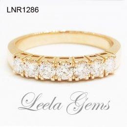 แหวนเพชรแถว 18K Rose Gold