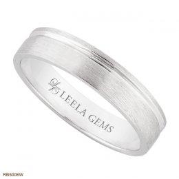 แหวนเกลี้ยงทองขาว 18K