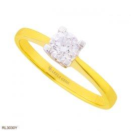 แหวนแต่งงานเพชรน้ำ 100