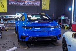 รีวิว เครื่องขัดสีรถ EX605 และขนแกะรุ่นใหม่ Super Fast จาก SHINE MATE ขัดสีรถ Porsche 911 Turbo S (992)