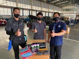 ทางบริษัทเข้าฝึกอบรมศูนย์รถยนต์ Mazda ในประเทศไทย ด้วยนวัตกรรมเครื่องขัดสีรถ Shine Mate และน้ำยาขัดเคลือบสีรถ 3D USA