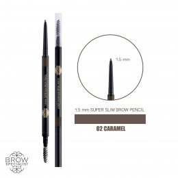 4U2 BROW SPECIALIST 1.5 mm. SUPER SLIM BROW PENCIL #02 CARAMEL