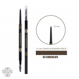 4U2 BROW SPECIALIST 1.5 mm. SUPER SLIM BROW PENCIL #03 CHOCOLATE