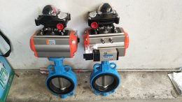 RAT075+Butterfly Valve DN100+limit switch box + namur solenoid valve 5/2