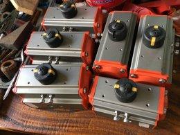 UPVC  Union Pneumatic Actuator 3 way Ball Valve