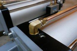 กระบอกลม SC125x300S ติดหูวายด้านหน้า ติดหู CB ครับ เดินท่อทองแดงไปที่วาล์ว 4V310-10