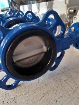 butterfly valve DN80 ประกอบหัวขับไฟฟ้า