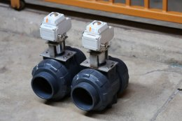 motorized ball valves UPVC