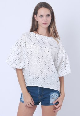 Strap Blouse With nice dot